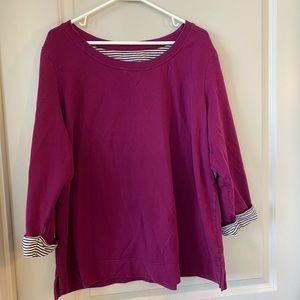 Karen Scott sweatshirt material top. Size 2X